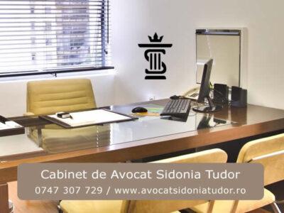 Cabinet de Avocat Sidonia Tudor ofera consultanta, asistenta si reprezentare juridica